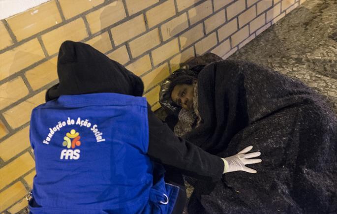 Frio intenso mant�m equipes de Abordagem Social em alerta